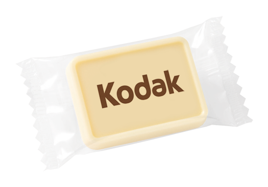 Werbeschokolade-Kodak