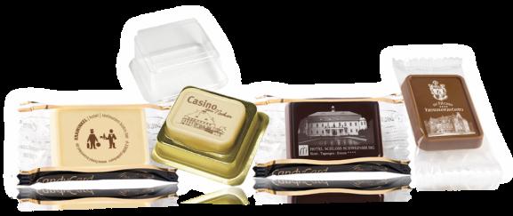 Gadget per hotel in cioccolato personalizzato